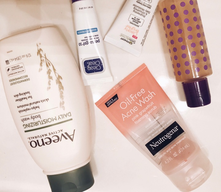 Facial cleanse routine